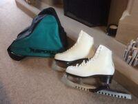 Ladies Risport Laser white ice skates, size 37