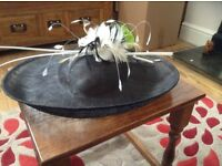 Ladies wedding hat only worn once in box. Cost original 250.
