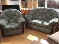 2 seater and matching chair free to a good home