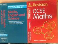 Key stage 3 maths, GCSE Maths, English, Science, Economics, ICT, Biology, Chemistry, Physics, £2