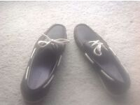 Mens Navy Blue Boat Shoes