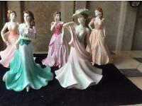 Coalport ladies of fashion figurines