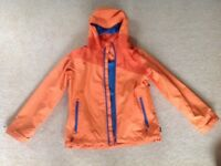 Kids Boys Quechua 3 in 1 waterproof orange coat jacket age 10