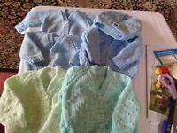 Baby hand knitted cardigan unwanted gifts £3 each never worn can deliver if local 07812980350