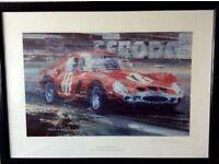 Limited Edition Print Ferrari 250 GTO (Graham Hill) By Dexter Brown