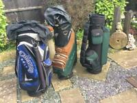 CHOICE OF GOLF BAGS. ALL THE SAME PRICE