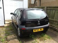 Vauxhall Corsa SXI for spares or repair