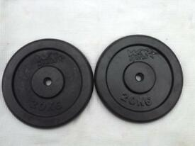 6 x 20kg We R Sports Standard Cast Iron Weights