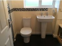 Nearly new toilet basin with taps