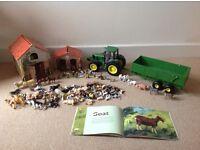 Huge Farmyard Play Set (over 100 animals, tractor, farm houses)