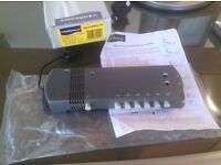 Amplifier 6 Way VHF/UHF Digital and Analogue Radio/TV Distribution