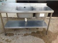 Double & Single industrial/catering sinks
