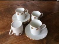 Espresso cups and saucers as new
