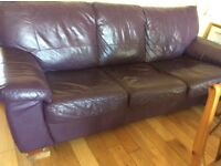 Sofa Bed,leather,good condition.