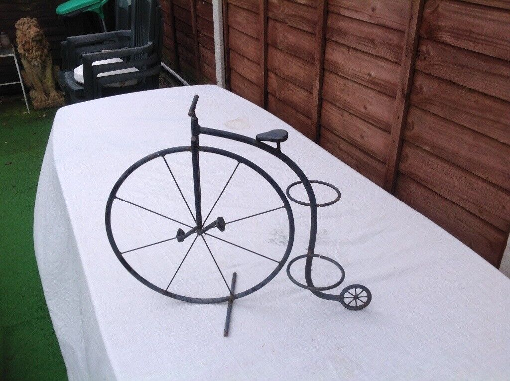 Garden Planter Old Penny Farthing Bicycle In Poole Dorset Gumtree