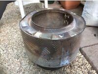 Washing drum fire pits