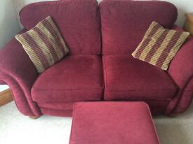 Alston Osborne 2 seater sofa, chairs and footstool
