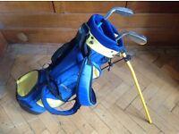 Kids Rogue golf bag including x2 clubs