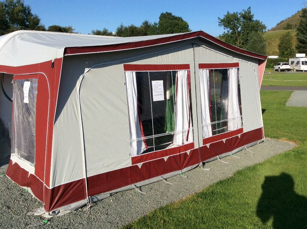 Caravan Awning Dwt Zelte Fiesta 910 Complete With Breathable Ground Sheet And Inner Tent