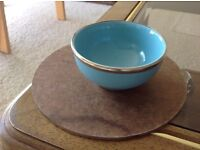 Small ornamental turquoise bowl