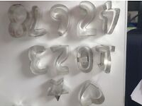 Number Set Steel Cookie Cutters
