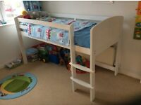 White Aspace Midsleeper single kids bed