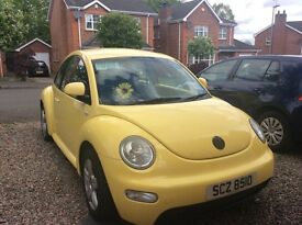 Lovely yellow VW beetle for sale to good home