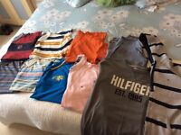 Selection of 10 mens Tshirts large(Tommy Hilfiger, mantaray, John rocher, duffer st George and next)