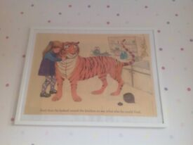 The tiger who came for tea framed picture