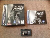 Game boy advance: Star Wars Trilogy. Apprentice of the Force