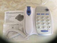 Landline telephone with large, easy to use, keypad