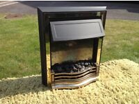 Electric coal effect fire with various settings
