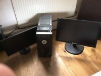 ViBOX PC, Lenovo monitor, AOC moniter