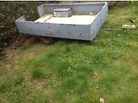 Metal garden trailer