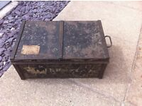 WW2 Military Chest From Queens Chaplain MC & Elalemain on Auckenlechs Staff