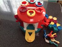 Colourful Shape Sorter with Keys