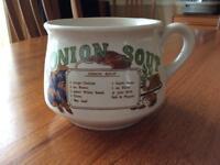 Vintage collectible recipe soup mug