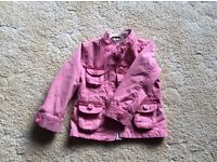 Pink denim jacket 2-3 years excellent condition
