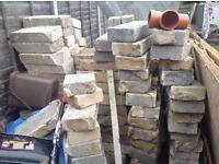 Concrete bricks and 3/4m wood planks