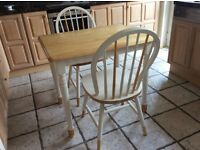 Solid Wood Table and Ercol Style Chairs