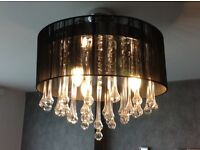 Stylish chandelier for living room/ bedroom with real glass crystals
