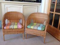 Childrens wicker chair