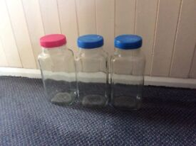 Glass Jars suitable for sweets or rice,pasta