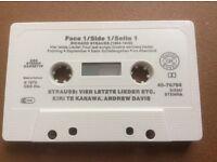 Autographed Kiri Te Kanawa cassette