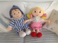 Extra large Andy Pandy& Looby Loo collectible/ toys
