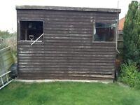Shed , to dismantle for bonfire wood or repair