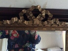 A Pair Of Mirrors with Hand carved & Gilt frames