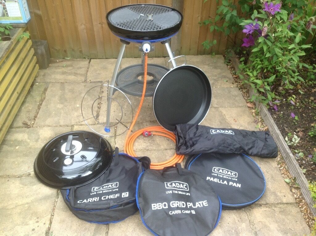 cadac carri chef 2 bbq with paella pan in lower bourne. Black Bedroom Furniture Sets. Home Design Ideas