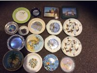 Glass and silver decorated plates