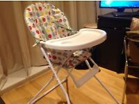 Mamas and papas playmat+fisher price bouncer+ high chair